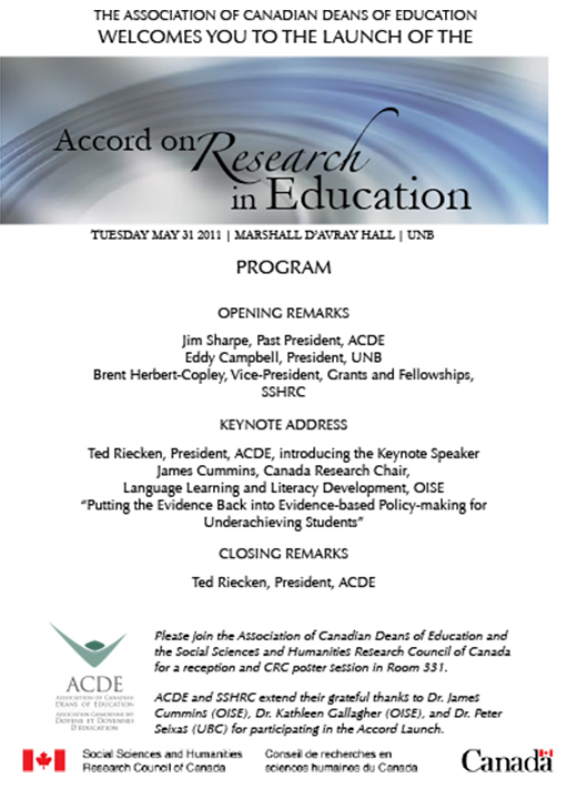 ACDE | ACDE's Accord on Research in Education