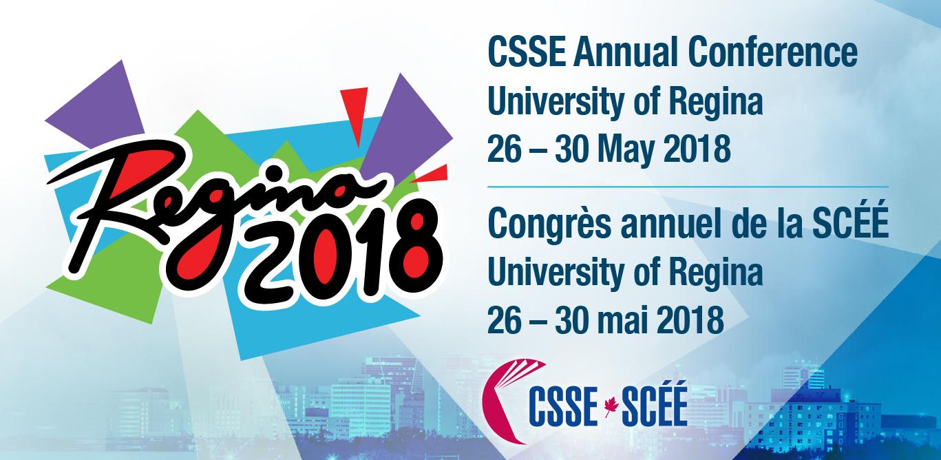 CSSE Conference 2018 University of Regina
